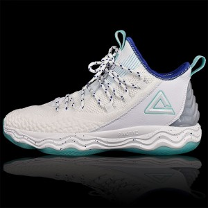 PEAK Dwight Howard DH4 Professional Basketball Shoes - White/Blue