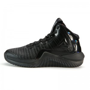 """Peak 2018 Winter New Dwight Howard """"Rising Flames"""" High Outdoor Basketball Shoes - Black"""