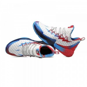 Peak Louis Williams 2019 PLAYOFFS NBA Basketball Shoes - White/Blue/Red