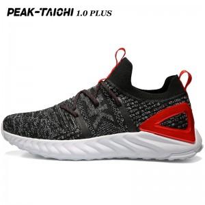 """PEAK 2019 Summer New PEAK-""""TAICHI"""" 1.0 Plus Smart Running Shoes - Black/Red/Gray"""