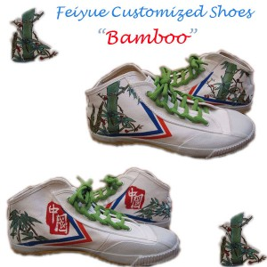 "Custom Feiyue Delta Mid Shoes - ""Bamboo"""""