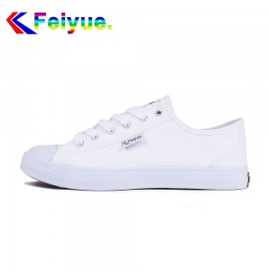 Feiyue Plain Classic Low Fashion Canvas Lover's Shoes - White