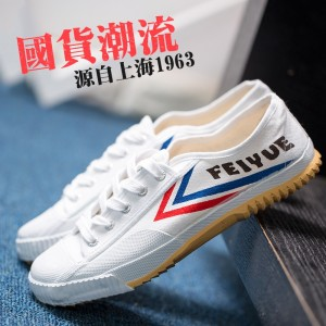 Feiyue Classic Kung Fu Martial Arts Shoes 501 - White