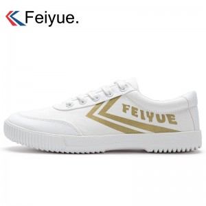 Feiyue 2018 New style Classic Low Fashionable Causal Sneakers - White/Gold