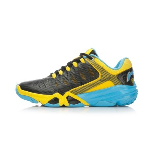 Li-Ning Multi Accelerate 3.0 Mens Cushion Badminton Professional Shoes - Black/Yellow/Blue