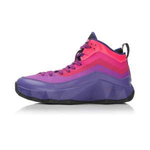Li-Ning Rebirth Rainbow Mens High Top Outdoor Basketball Shoes - Purple/Red/Black