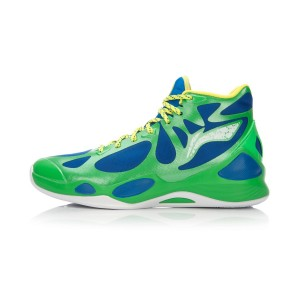 Li-Ning BB Lite Sonic 4 2016 CBA Professional Basketball Shoes - Grass Green/Crystal Blue