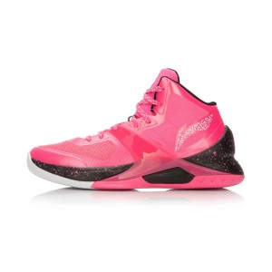 Li-Ning WoW4 Wade Sixth Man Professional Basketball Shoes - Pink/Black