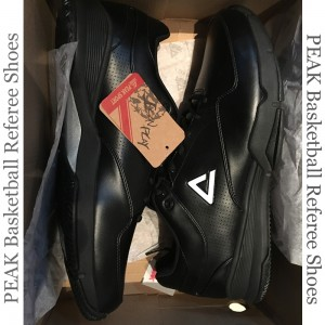Peak FIBA Sponsor Basketball Referee Shoes in White Peak Logo