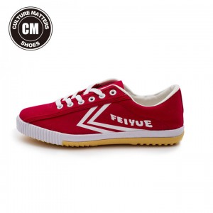 Feiyue Shoes Plain Classic Low Fashion Canvas Shoes - Red