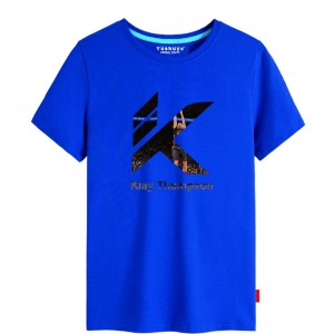 NBA Star Klay Thompson Men's Lifestyle Basketball Culture T-shirt