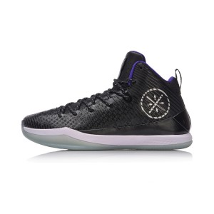 Li Ning Wade All In Team 5 Mid Professional Basketball Shoes - Black/Blue