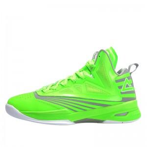 Peak Soaring II-VI 3M Reflective Professional Basketball Shoes - Lime Green