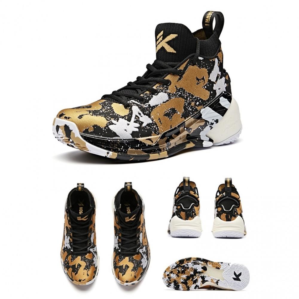 05039c09d83e Anta 2019 Klay Thompson KT4 Men s Basketball Shoes - Gold Black  11911101 -14