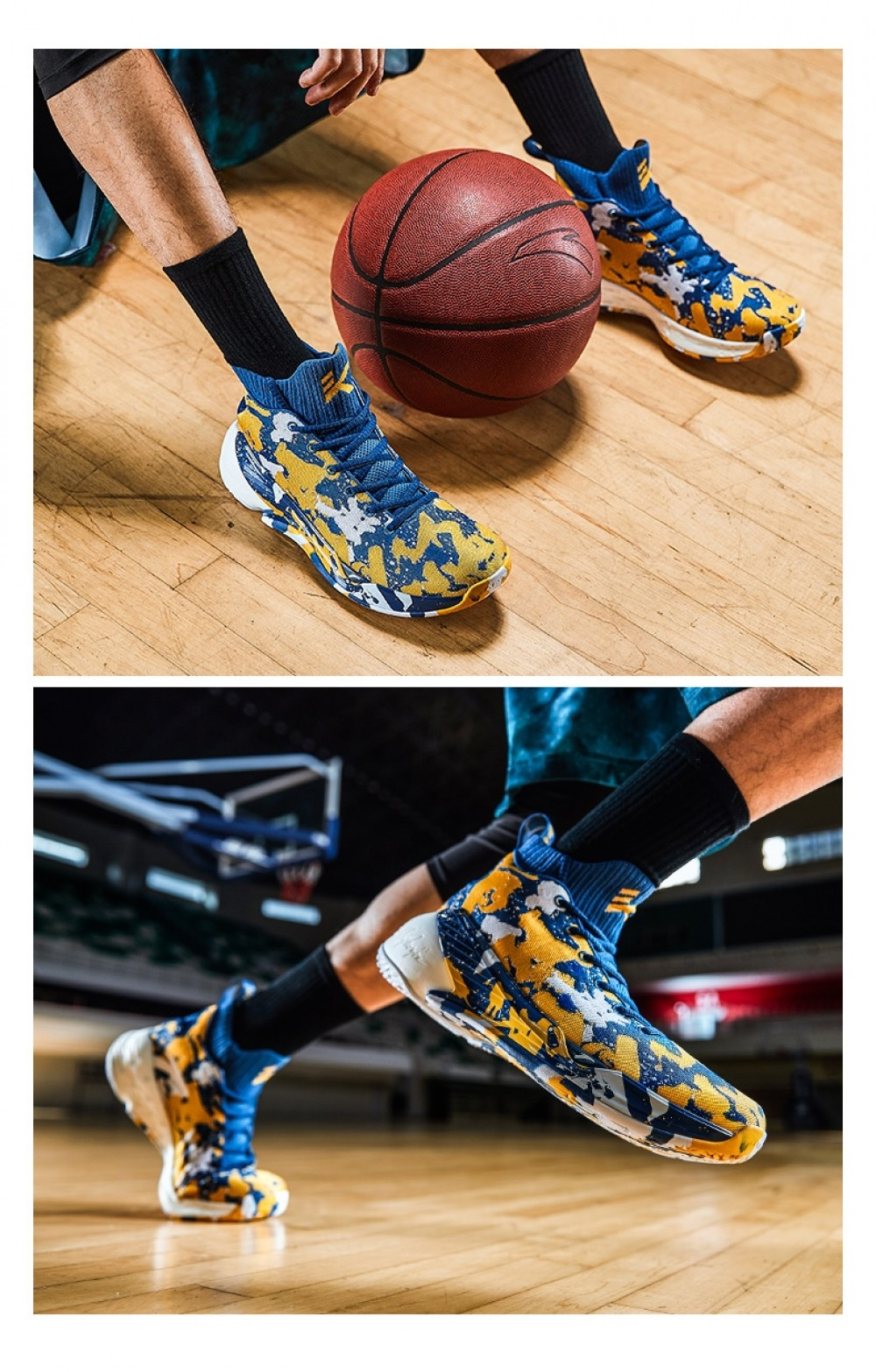 7a18791c614a Anta 2019 Spring New Klay Thompson KT4 Men s Basketball Shoes -  Blue Yellow White