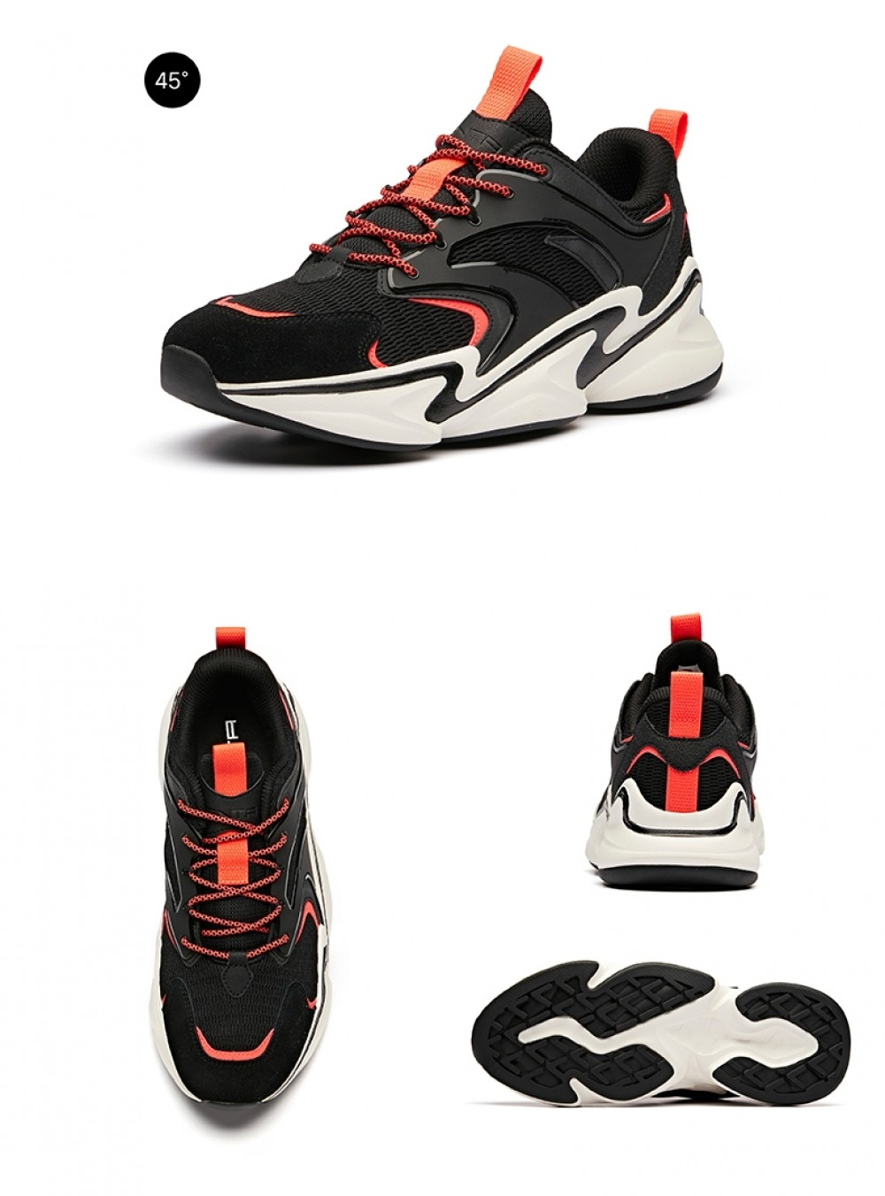 Anta 2019 Spring New Men's Stylish Retro Running Sneakers