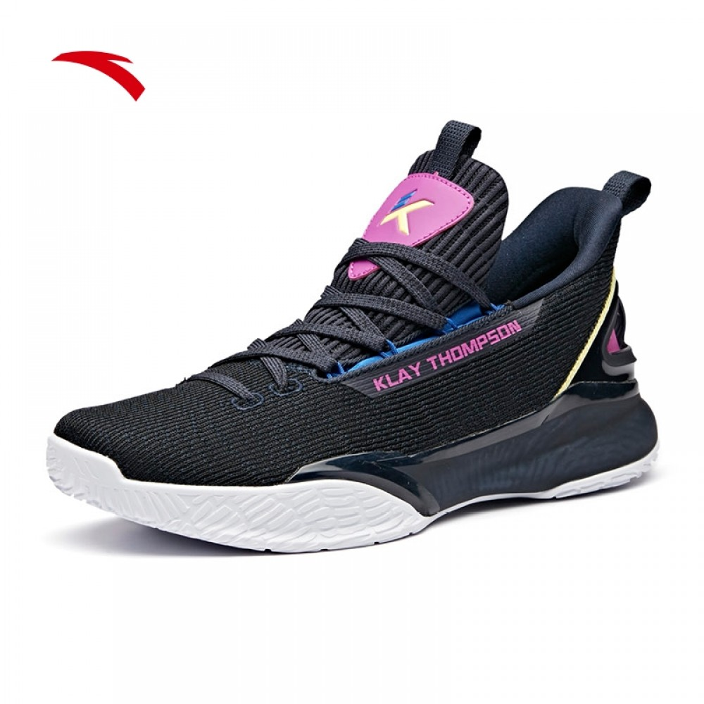 2e0c24e27a Anta KT4 Klay Thompson 2019 Light Men s Basketball Shoes - Black Purple  White