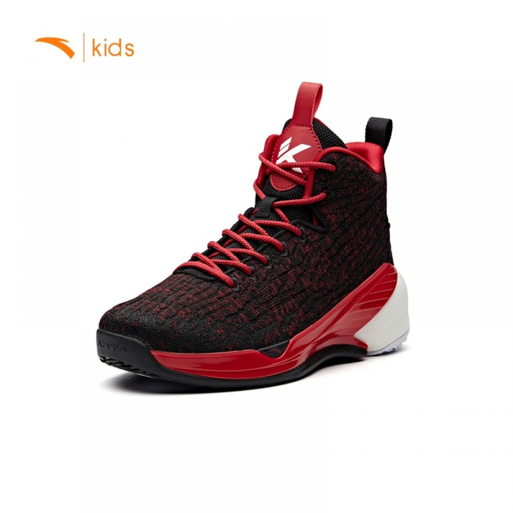 3a494954182e Anta Kids KT4 Klay Thompson Basketball Shoes - Black Red