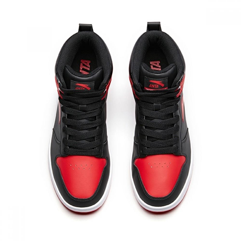 Anta 2018 Fall Men's High tops Skateboard Shoes - Red ...