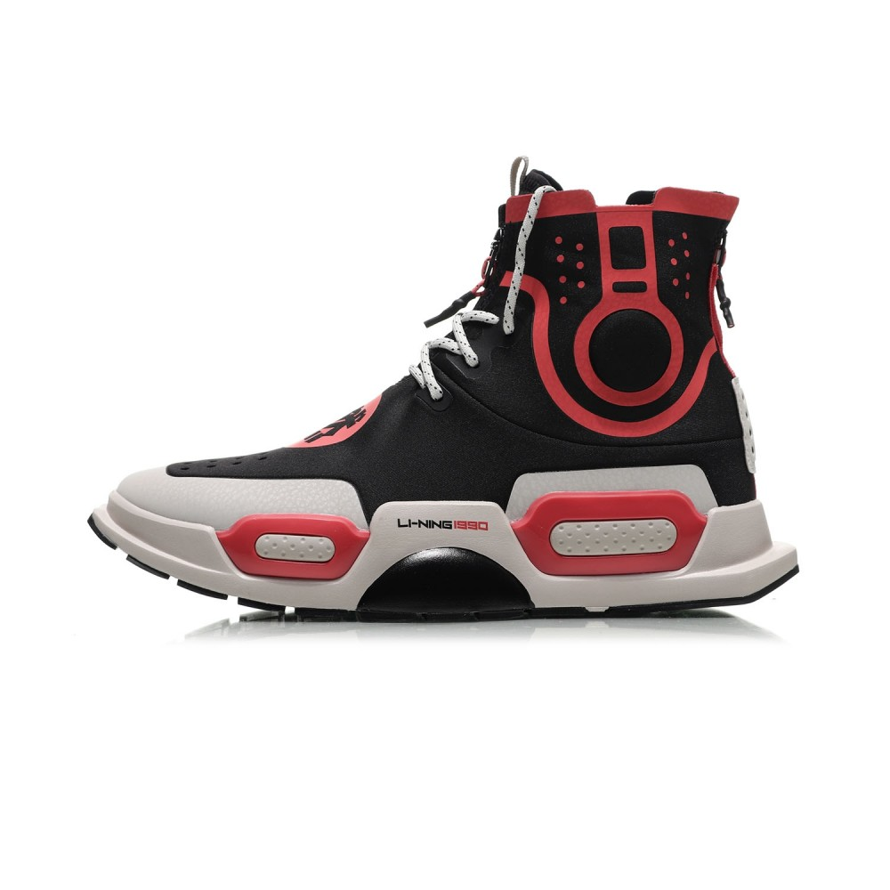 e89bd7630 Li-Ning Essence II 2 NYFW  REBURN  High Top Basketball Culture Shoes -  Black Red