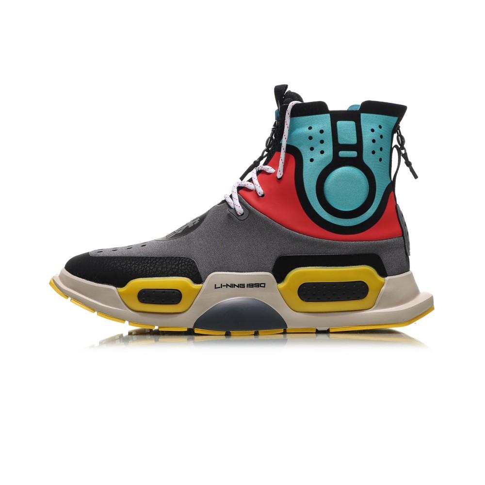 f8ae9e384 China Li-Ning Essence II 2 NYFW  REBURN  High Top Basketball Culture  Sneakers - Grey Blue