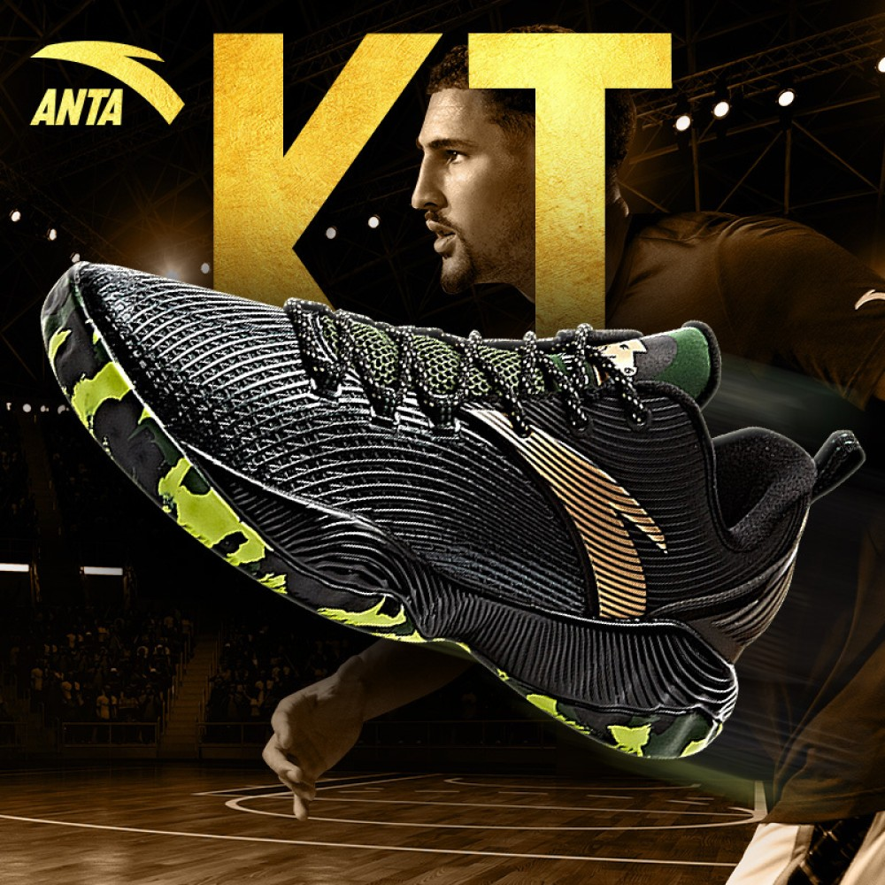 cb334479fbe7 Anta 2017 Klay Thompson KT Lite Basketball Training Shoes - Black Green