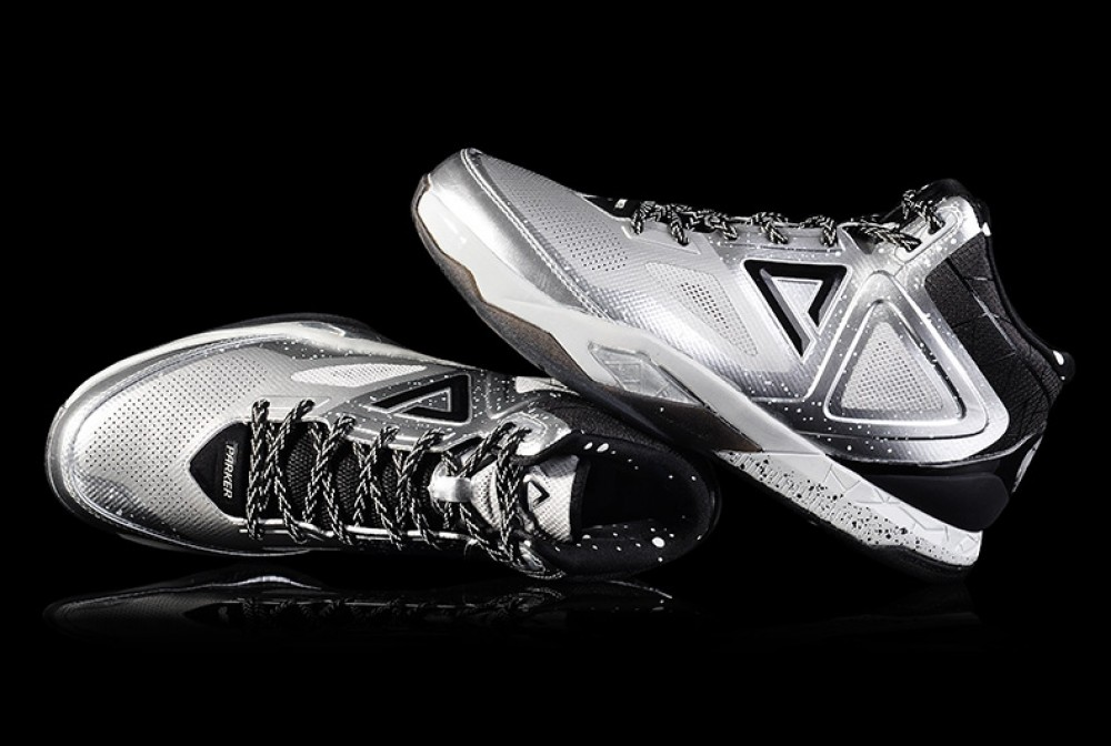 PEAK TP9 Tony Parker 3 III Professional Basketball Shoes - Metallic Silver