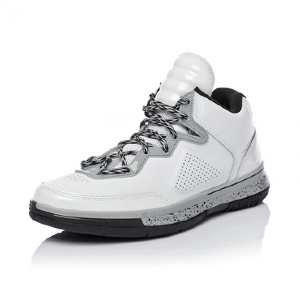 Li Ning WoW Way of Wade 305 Basketball Sneakers - White/ Grey