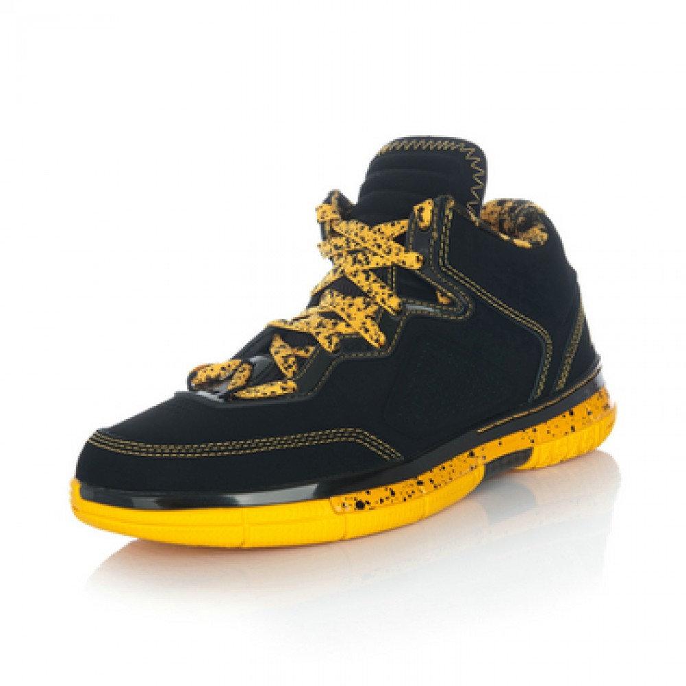 Li Ning WoW Way of Wade Caution Basketball Sneakers - Black/Yellow