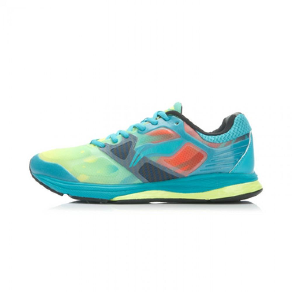 Li-Ning Men's Cushioning Running Shoes - Bright Fluorescent Green/Butterfly Blue