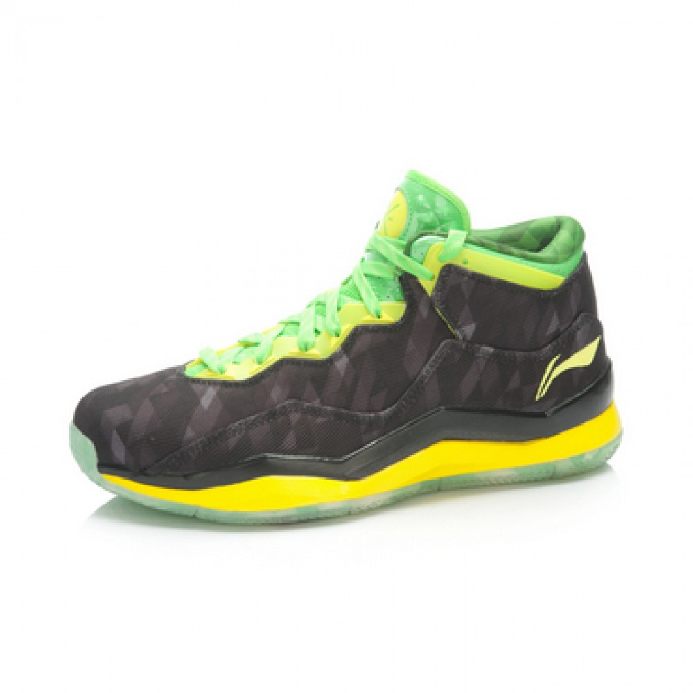 Li Ning WoW 3.0 Way of Wade 3 BHM Black History Month-Black/Green/Yellow