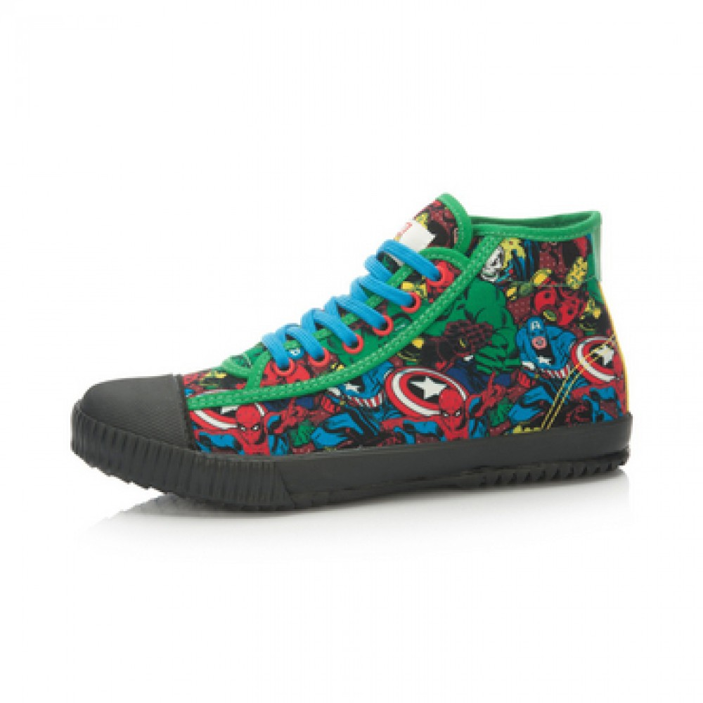Marvel Comics x Li-Ning Women's Retro Canvas Shoes - Green/Black