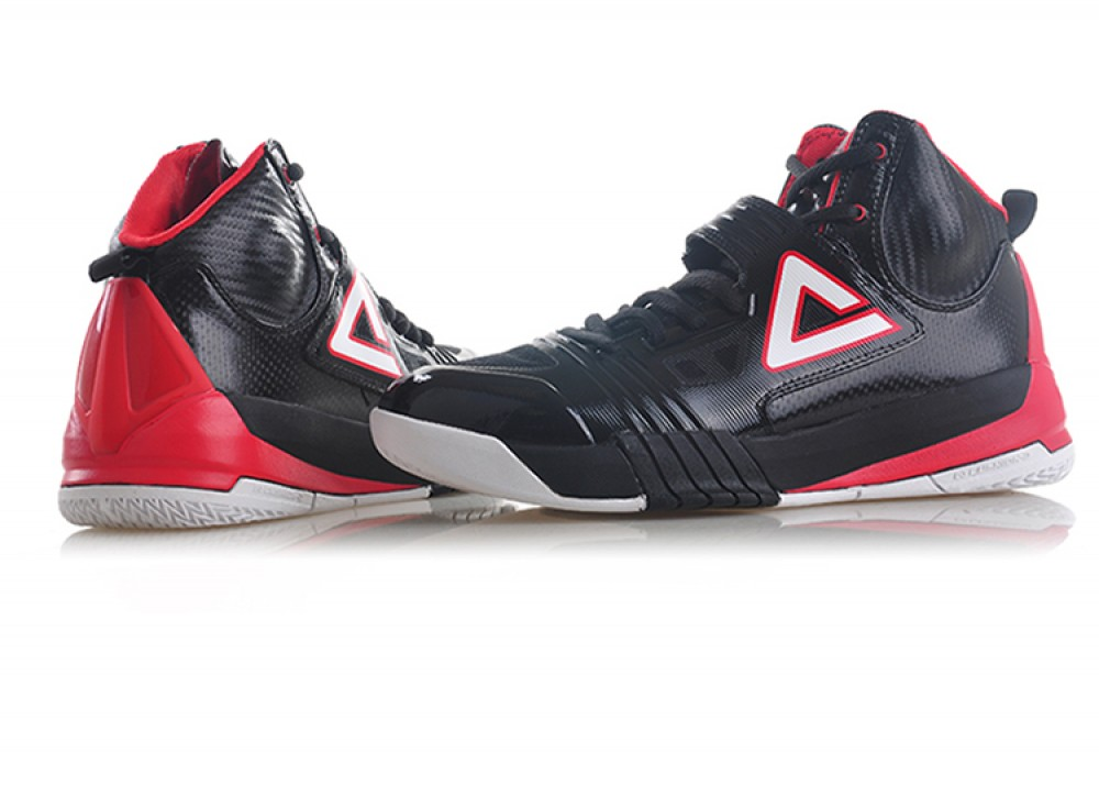Peak Hurricane II Carl Landry Professional Basketball Shoes - Black/Red