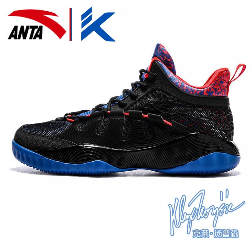 056ba361772a 2017 Klay Thompson KT Outdoor II High Basketball Shoes - Black Blue