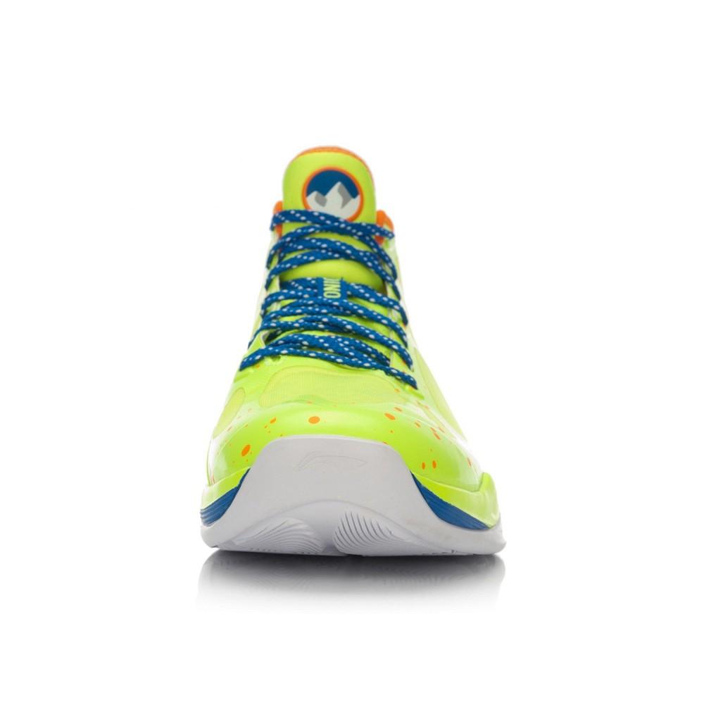 Li-Ning BB Lite Sonic 4 2016 CBA Professional Basketball Shoes - Bright Green/Crystal Blue