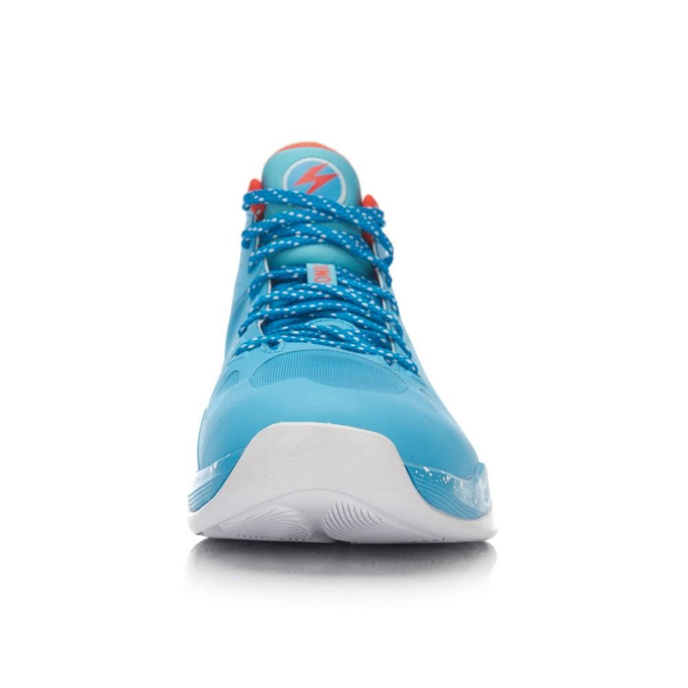 Li-Ning BB Lite Sonic 4 2016 CBA Professional Basketball Shoes - Xinjiang Blue/Deep Orange