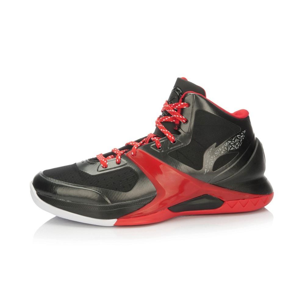 Li-Ning WoW4 Wade Sixth Man Professional Basketball Shoes - Black/Red