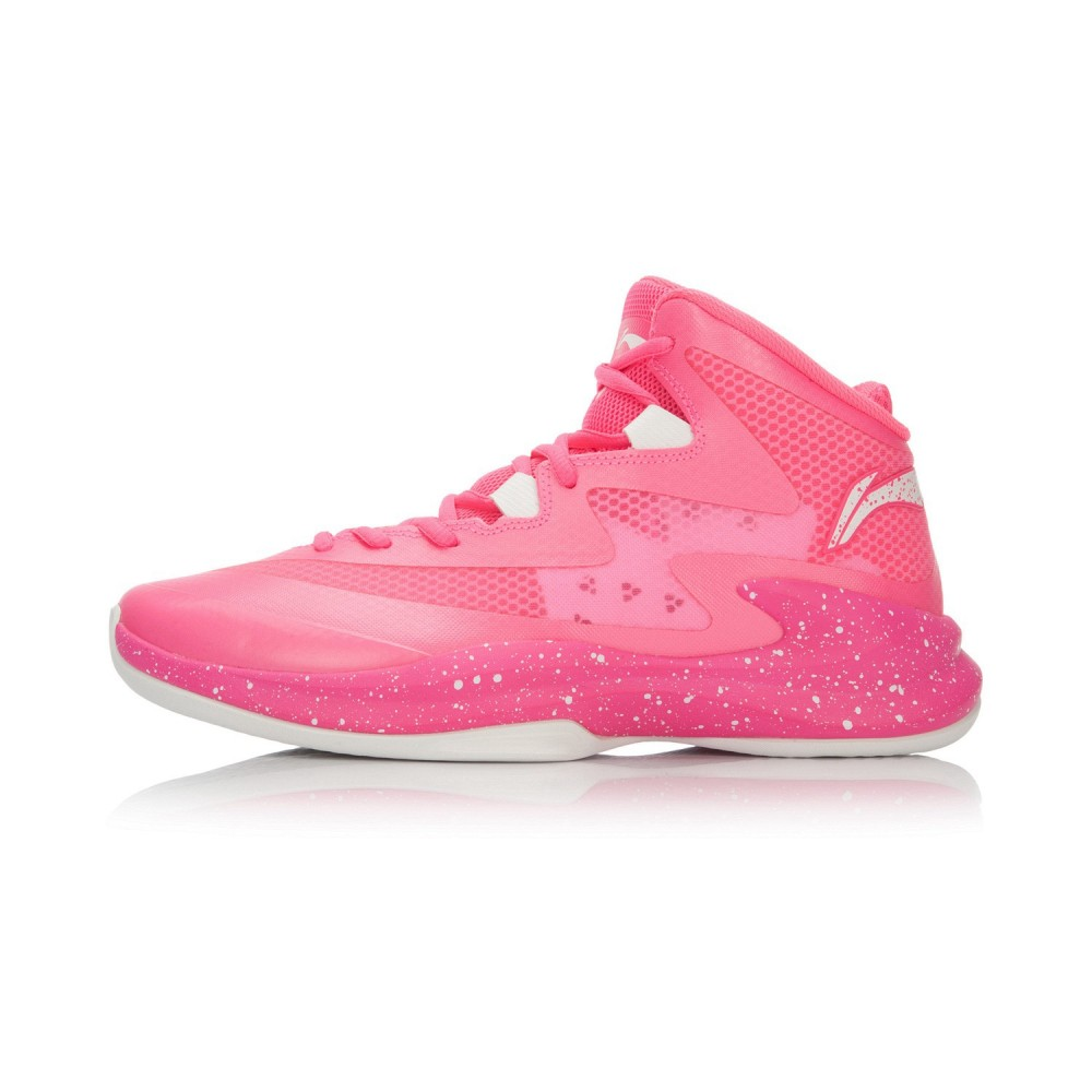 Li-Ning Ultra Light 13 High Cut Mens Outdoor Basketball Shoes - Pink/White