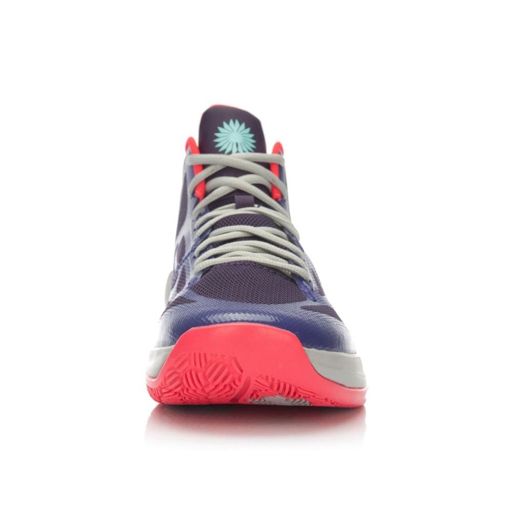 Li-Ning BB Lite Sonic 4 TD Basketball Shoes - Purple/Flame Red/Crystal Grey