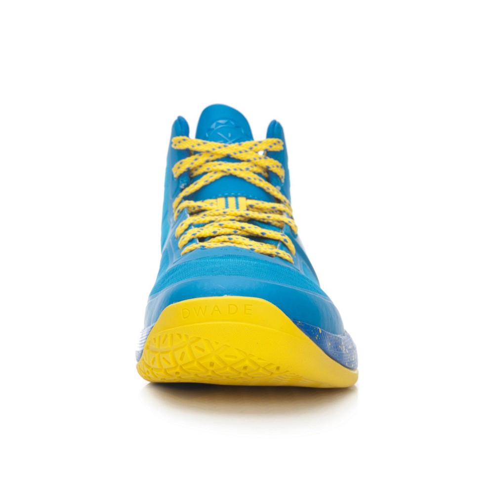 Li-Ning WoW4 Wade Sixth Man Professional Basketball Shoes - Blue/Yellow