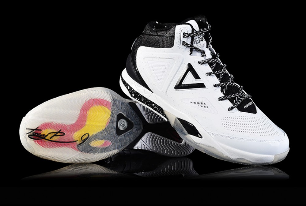 PEAK TP9 Tony Parker 3 III San Antonio Spurs Away Basketball Shoes
