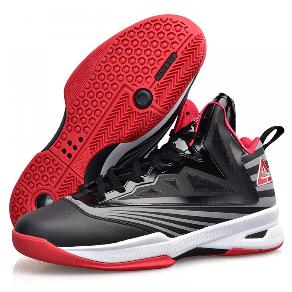 Peak Soaring II-VI 3M Reflective Professional Basketball Shoes - Black/Red