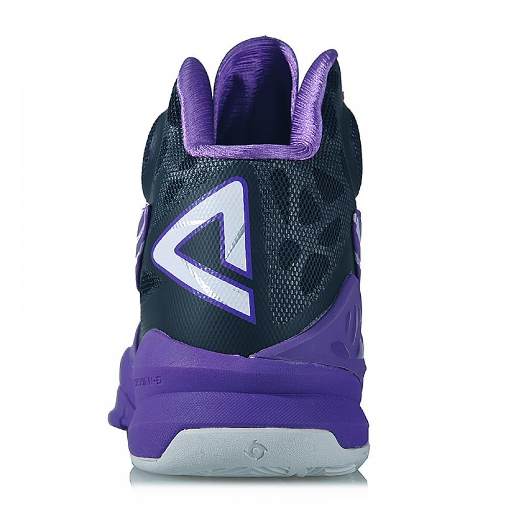 Peak Team Miles Plumlee Hurricane 3 III Professional Basketball Shoes - Purple/Black