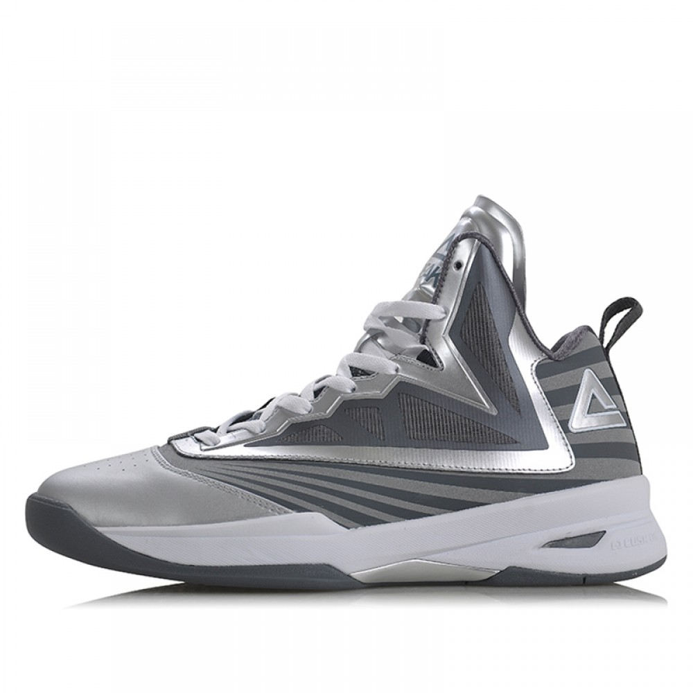 Peak Soaring II-VI 3M Reflective Professional Basketball Shoes - Silver/Grey