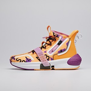 "2020 Dragon Ball Super ""Master Roshi"" Lovers Anta Basketball Culture Sneakers - Orange/Purple/White"