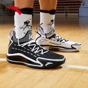 2020 Anta KT5 Klay Thompson Low Basketball Sneakers - Black/White