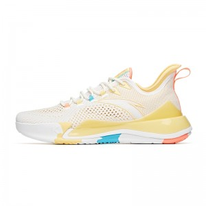 Anta KT-LIGHT 2020 Men's Basketball Sneakers - White/Yellow