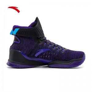 Anta 2020 KT Klay Thompson New KT3 Color Basketball Sneakers - Black/Purple
