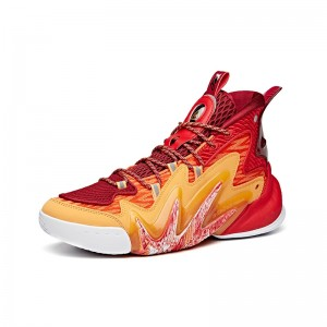 """Anta Men's Shock The Game 4.0 """"Frenzy"""" 2020 New Basketball Sneakers - Red/Orange"""