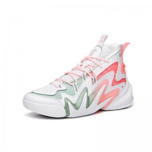 """Anta Men's Shock The Game 4.0 """"Frenzy"""" 2020 New Basketball Sneakers - White/Pink"""